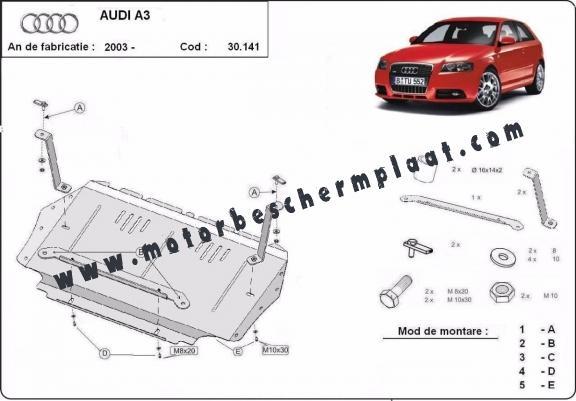 motor  versnellingsbak en radiator beschermplaat voor audi a3
